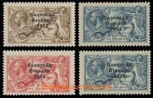 200702 - 1922-1928 FREE STATE / SG.65-66, 87-88, anglické Jiří V. 2Sh