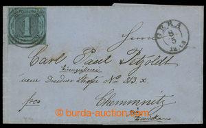 200710 - 1859 skládaný dopis vyfr. zn. Číslice 1 Sgr, Mi.4, 4-kruhové