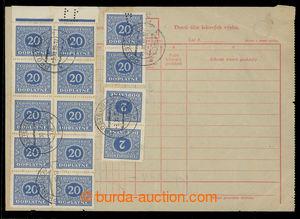 200724 - 1939 blank form Daily extract check výplat of Postal saving