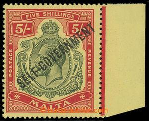 200734 - 1922 SG.113b, Jiří V. 5Sh s přetiskem SELF-GOVERNMENT, krajo