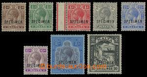 200739 - 1921-1922 SG.97s-105s, Jiří V. ¼P - 10Sh s přetiskem SP