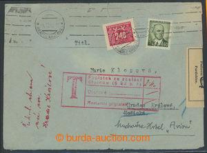 200763 - 1946 POŠTOVNÍ ÚLOŽNA PARDUBICE, dopis zaslaný v místě, dosíl
