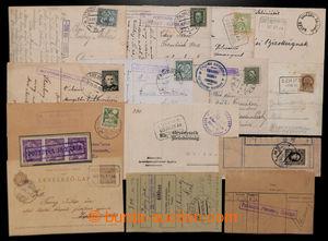 200766 - 1911-1943 SLOVENSKO  sestava 15ks celistvostí a výstřižků s