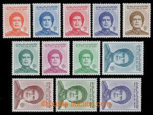 200777 - 1986 Mi.1627-1638, Kaddáfí 50Dh - 2.550Dh; svěží série, tato