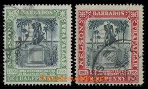 200782 - 1906 SG.146x, 147x, Nelsonův památník ½P a 1P  razítkov