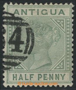 200788 - 1882 SG.21a, Viktorie ½P tmavě zelená s DV - TOP LEFT T