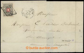200789 - 1851 neúplný přebal dopisu adresovaný do Champel, vyfr. nezo