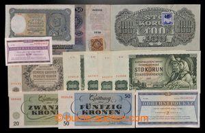200796 - 1918-1990 ČSR, SLOVENSKO, ČaM, TEREZÍN  sestava 12ks bank