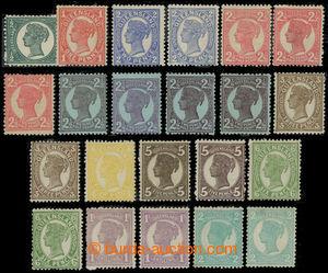 200805 - 1897-1908 SG.231-254, Viktorie ½P - 2Sh, sestava 22 zn.