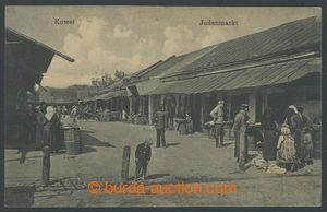 200818 - 1920? JUDAIKA - Židovský trh ve městě Kowel /založeno r. 151