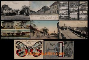 200819 - 1905-1922 MĚLNÍK - sestava 8ks, Mělník a okolí, obsahuje: Mě