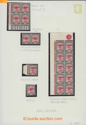 200827 - 1940 sestava 10-bloku, 4-bloku, 2-pásky a samostatné zn. na