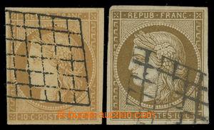 200832 - 1849 Mi.1a + 1b, Ceres 10C, 2ks, 1x žlutohnědá a 1x olivově