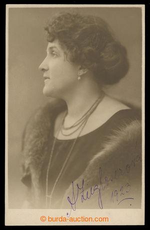 200902 - 1923 ZIEGLOSEROVÁ Anna (1883-1942), významná česká prozaička