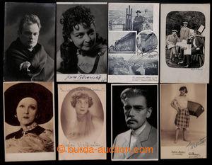 200908 - 1900-1950 SESTAVA / 15 pohlednic s podpisy českých i zahrani