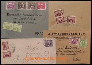200914 - 1919-1924 sestava 4ks dopisů s použitím Spěšných zn., 2ks ve