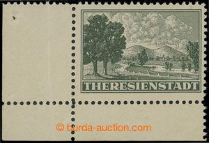 200961 - 1943 Pof.Pr1A, Připouštěcí známka, levý dolní rohový kus, ŘZ