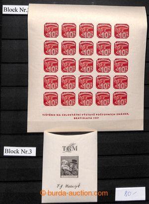 200978 - 1937-1992 [SBÍRKY]  GENERÁLNÍ / sbírka všech aršíků a někter