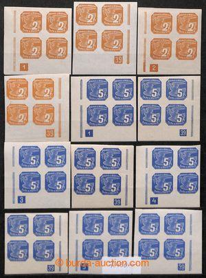 200981 - 1939 [SBÍRKY]  Pof.NV1-9, Novinové (I), téměř kompletní sbír