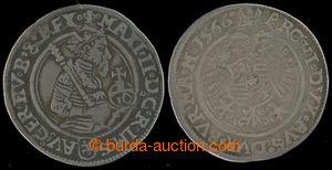 201001 - 1566 MAXMILIÁN II. (1564–1576), 10 Krejcar, 1566, mincovn