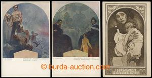 201039 - 1925-1930 MUCHA Alfons (1860–1939), sestava 3ks pohlednic, 1