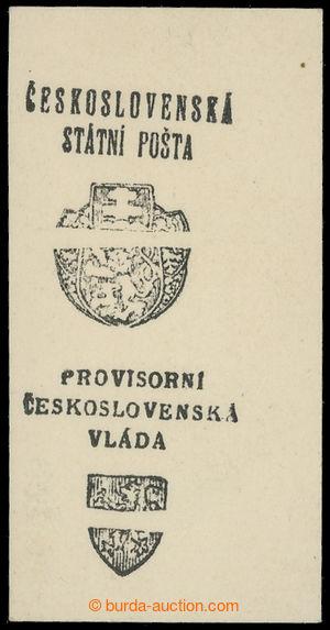 201068 - 1918 Pražský přetisk I a II (malý a velký znak), otisk 2 zne