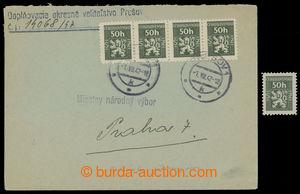 201088 - 1947 služební dopis vyfr. 4-páskou Služební zn. 50h zelená s