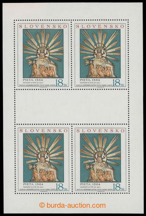 201099 - 1998 Zber.161 PLb, Art Pieta 18Sk, whole printing sheet with
