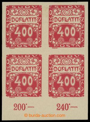201204 - 1919 Pof.DL11, Ornament 400h červená, dolní 4-blok s počítad