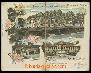 201326 - 1902 PIEŠŤANY (Pöstyén) - dvojdílná litografická koláž, proš