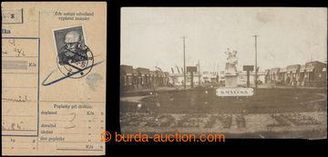 201441 - 1926-1950 pohlednice zaslaná z výstaviště v Jaroměři, rámečk