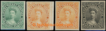 201457 - 1852-1859 PLATE PROOFS for SG.12 and SG.39, Victoria Chalon