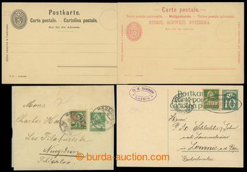 201535 - 1897-1928 comp. 4 pcs of p.stat, contains PC Mi.P26 and P27