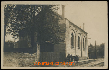 201598 - 1930 UHŘINĚVES - Sokol house,  B/W photo postcard; Un, onl