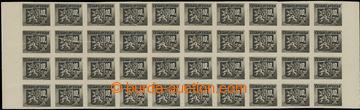 202081 - 1945 Pof.371, Bratislavské 10K černá, vodorovný 40-pás s okr