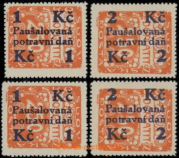 202112 - 1925-1929 Pof.PD3-PD4, Overprint issue issue 1Kč/250h and 2K