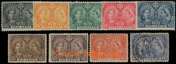 202481 - 1897 SG.121-134, Jubilee Victoria, 1/2C - 50C (without 8C an