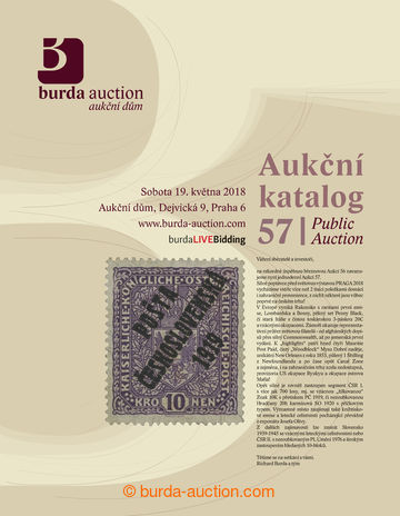 203211 - 2018 BURDA AUCTION s.r.o., katalog jednodenní Aukce 57, celo
