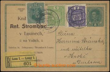 203327 - 1918 CPŘ3, rakouská předběžná dopisnice Karel 8h se soukromý