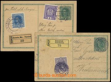 203332 - 1918 CPŘ3, sestava 2ks rakouských předběžných dopisnic 8h Ka