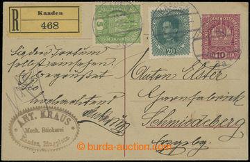 203343 - 1918 CPŘ5, souběžná rakouská dopisnice Koruna 10h zaslaná ja
