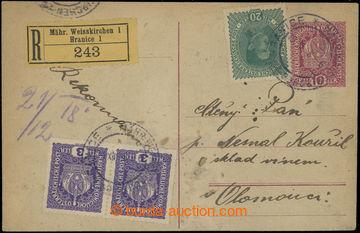 203344 - 1918 CPŘ5, souběžná rakouská dopisnice Koruna 10h zaslaná ja