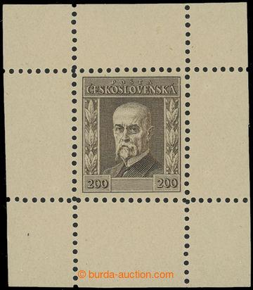 203366 - 1923 ZT Jubilejní, hodnota 200h bez letopočtu v hnědé barvě,