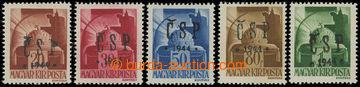 203443 - 1944 Pof.RV184, 186-189, Chustský přetisk 20f - 1P Štěpánská