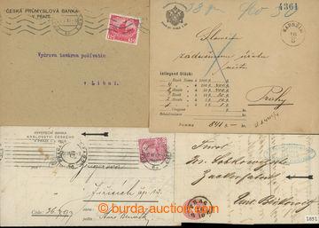 203545 - 1851-1915 BANKOVNÍ DOPISY čsl. provenience, sestava 5ks:  a)