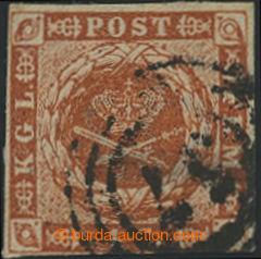 203920 - 1854 Mi.4, AFA 4z, Znak 4S oranžově hnědá s tzv. švýcarskou