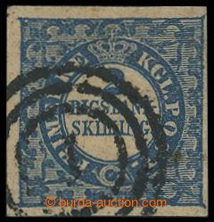203947 - 1852 Mi.2II, AFA 2b, Znak 2 RIGSBANK SKILLING, typ 7, Thiele