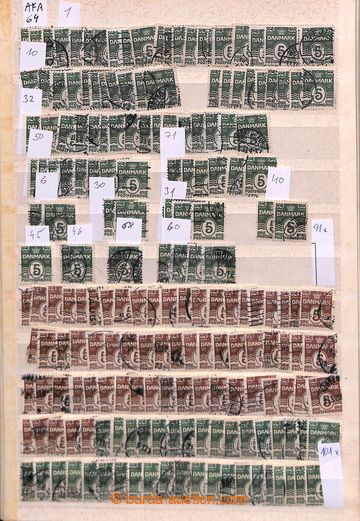 203977 - 1905-1926 [COLLECTIONS]  AFA 64-80, Numer Issues (wavy lines