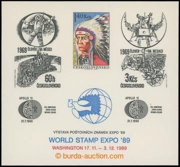 204087 - 1989 PT22, Výstava WASHINGTON ´89 - Indián, kat. 1.100Kč