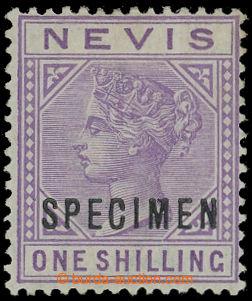 204349 - 1882 SG.34, Viktorie 1Sh světle fialová s přetiskem SPECIMEN